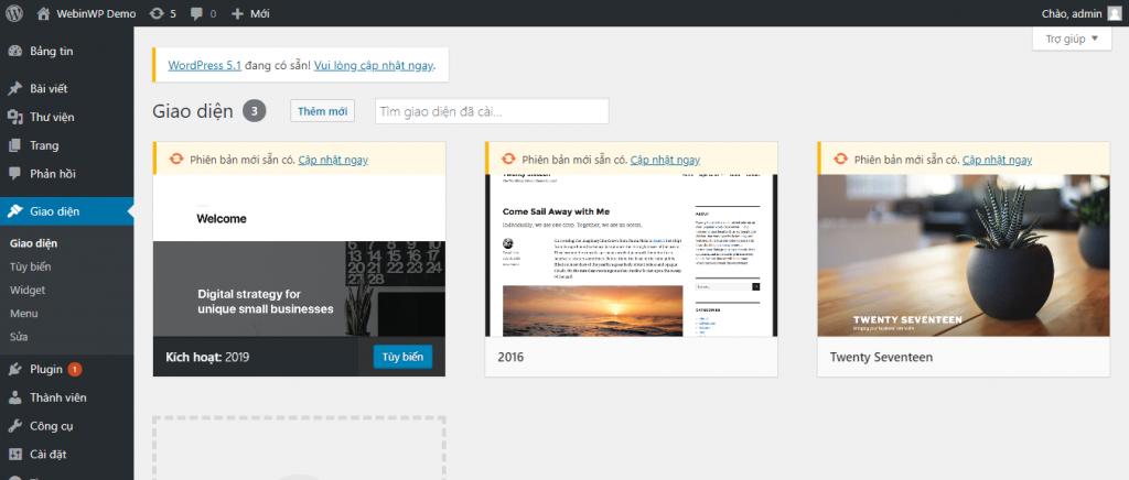 Hướng dẫn cài đặt giao diện WordPress